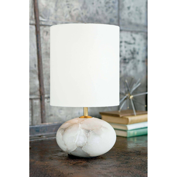 Alabaster Mini Orb Lamp