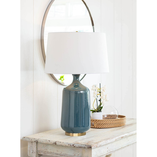 Glace Ceramic Table Lamp (Blue)