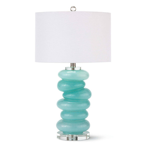 Stacked Pebble Glass Table Lamp