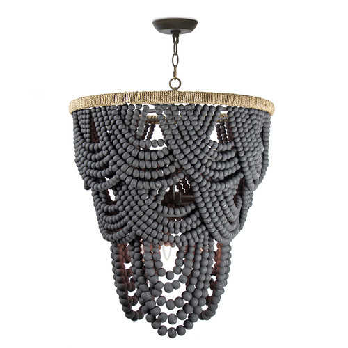 Lorelei Wood Bead Chandelier
