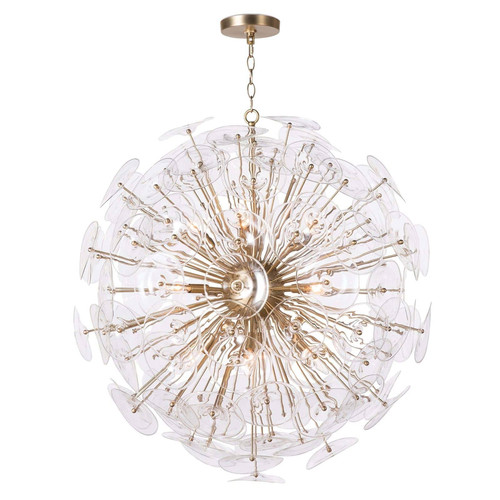 Poppy Glass Chandelier Large