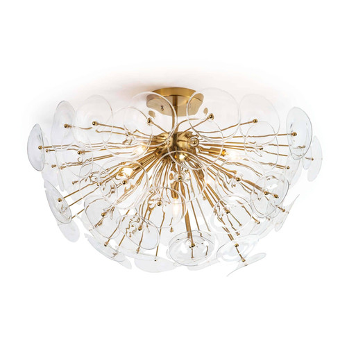 Poppy Glass Semi Flush Mount