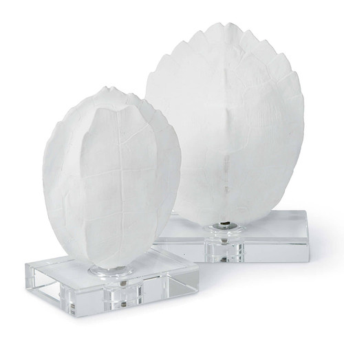 Turtle Shells On Crystal (Set of 2)
