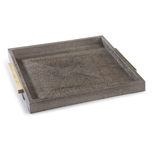 Square Shagreen Boutique Tray