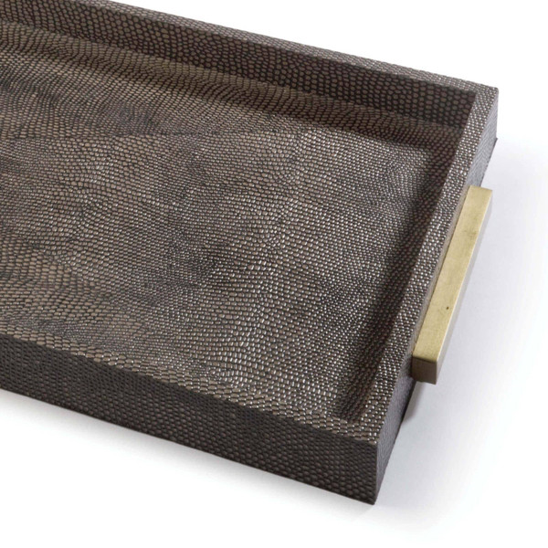 Rectangle Shagreen Boutique Tray
