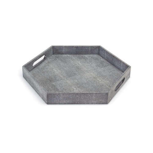 Shagreen Hex Tray