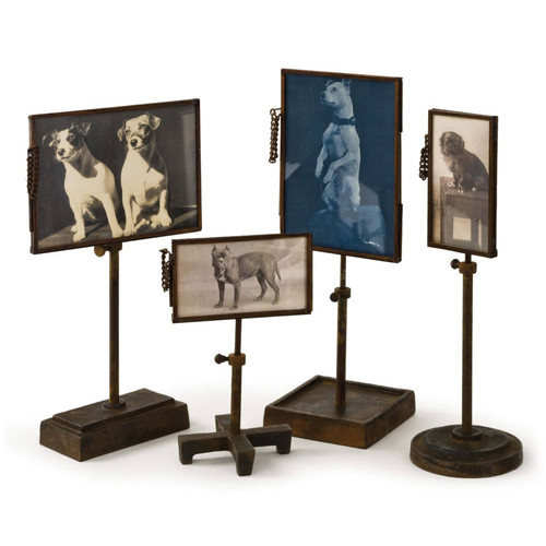 Vintage Metal Photo Holders (Set of 4)