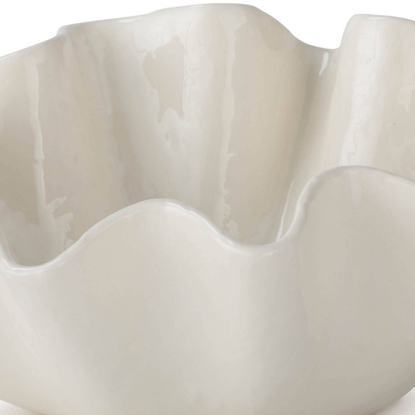 Ruffle Ceramic Bowl Medium