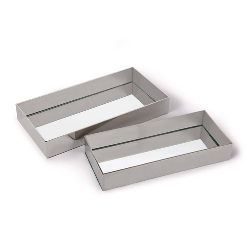 Rectangle Metal Tray Set