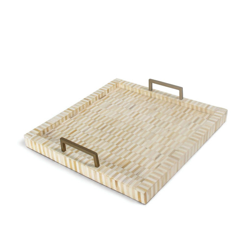 Nevis Multi-Tone Bone & Brass Tray