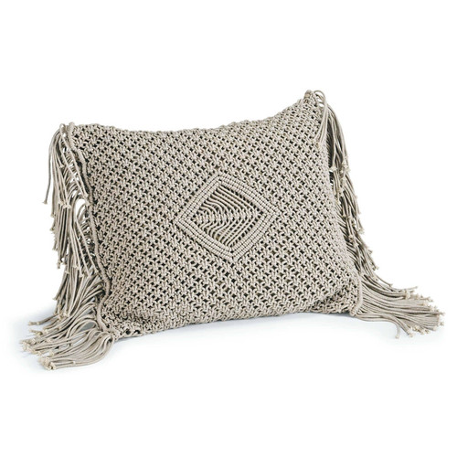 Leo Macrame Fringe Pillow