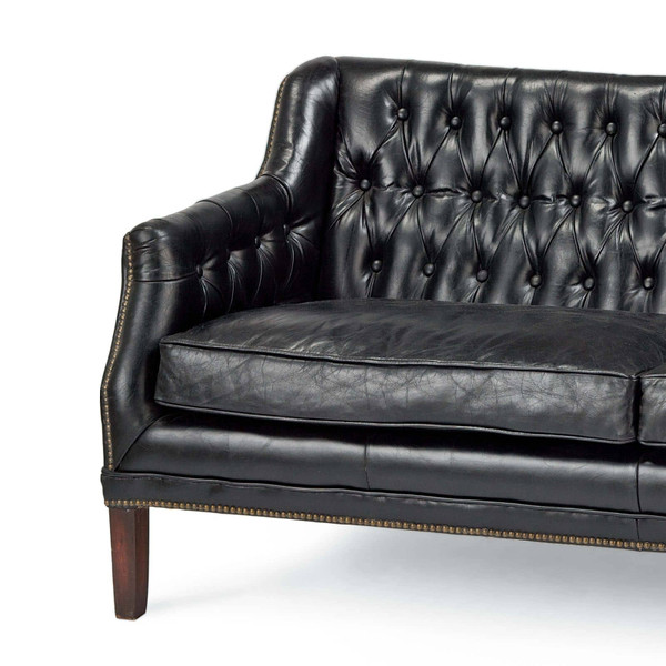 Leather Equestrian Sofa
