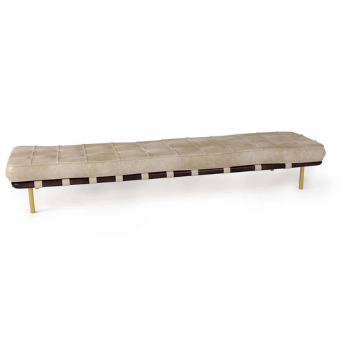 Tufted Gallery Bench