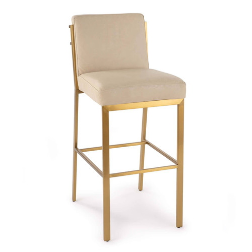 Chantal Leather Bar Stool
