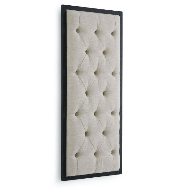 Tufted Wall Panel Display Oatmeal Linen