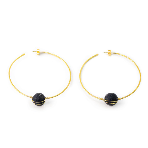 Evangeline Large Hoop Earrings