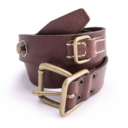 Mod's Brown Leather Belt
