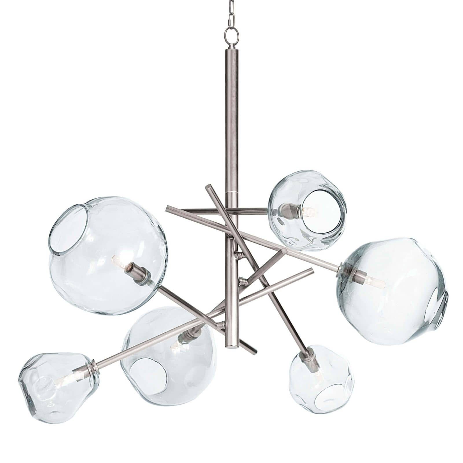 Molten Chandelier With Clear Glass